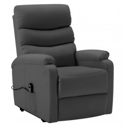 Fauteuil inclinable Anthracite Similicuir