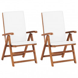 Chaises inclinables 2 pcs...
