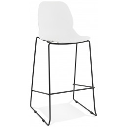 Tabouret de bar design ZIGGY Blanc