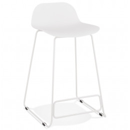 Tabouret de bar design SLADE Mini Blanc