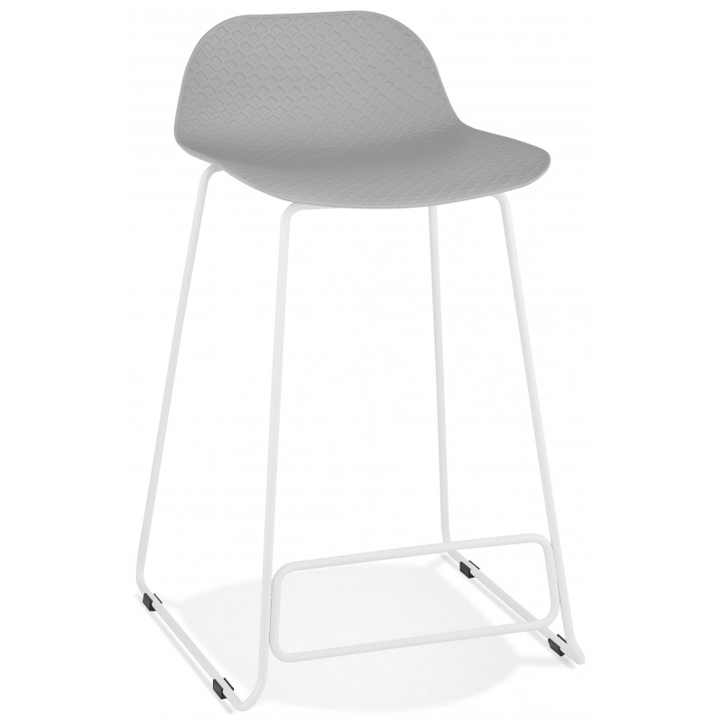 Tabouret de bar design SLADE Mini Gris