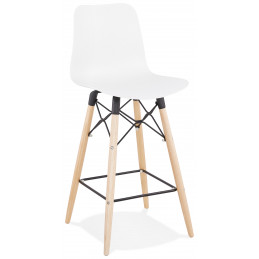 Tabouret de bar design DETROIT Mini Blanc