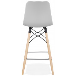 Tabouret de bar design DETROIT MINI Gris