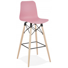 Tabouret de bar design DETROIT Rose