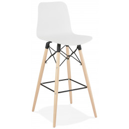 Tabouret de bar design DETROIT Blanc