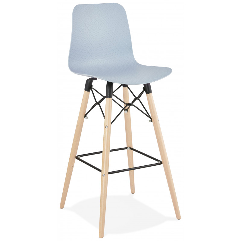 Tabouret de bar design DETROIT Bleu