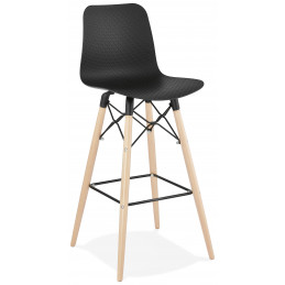 Tabouret de bar design DETROIT Noir