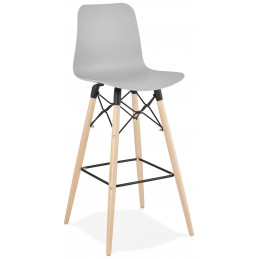 Tabouret de bar design DETROIT Gris