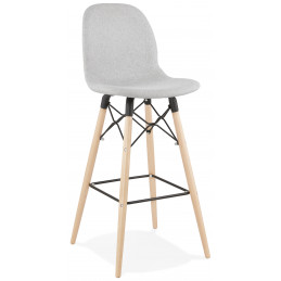 Tabouret de bar design CANA Gris Clair