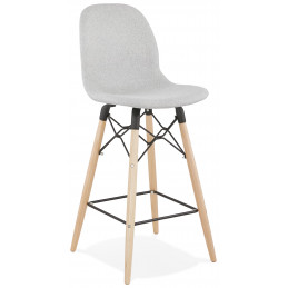 Tabouret de bar design CANA Mini Gris Clair