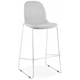 Tabouret de bar design PABLO Gris Clair