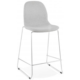 Tabouret de bar design PABLO Mini Gris Clair