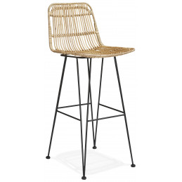 Tabouret de bar design LIANO Couleur Naturelle