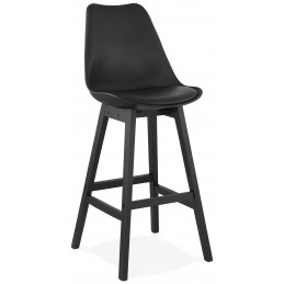 Tabouret de bar design APRIL Noir
