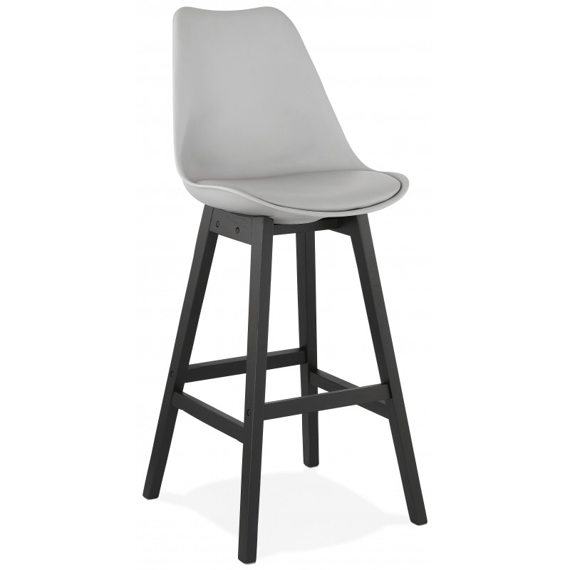 Tabouret de bar design APRIL Gris