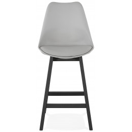 Tabouret de bar design APRIL Mini Gris pieds Noir 102 Cm