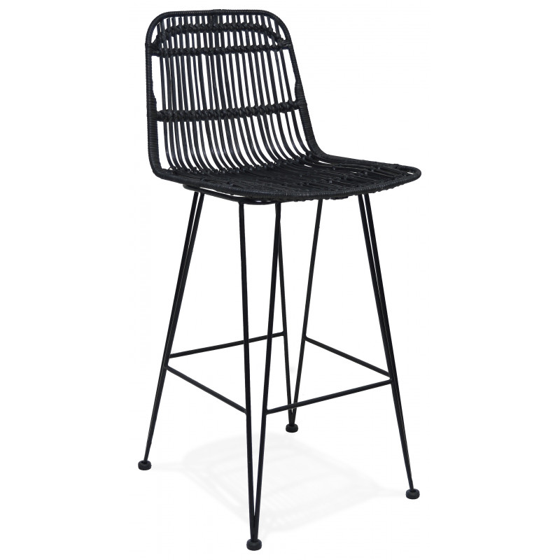 Tabouret de bar design LIANO MINI Noir 94Cm