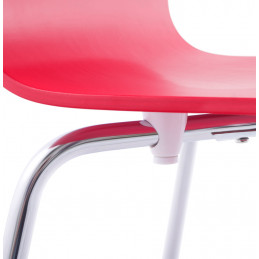 chaise design CLASSIC (non empilable) Rouge