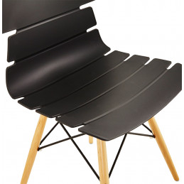 Chaise design STRATA Noir
