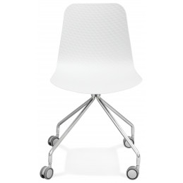RULLE Chaise design Blanc