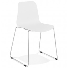 Chaise design BEE Blanc 55x50x82,5 cm