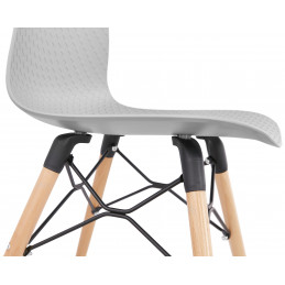 Chaise design GINTO Gris 46x47x80 cm