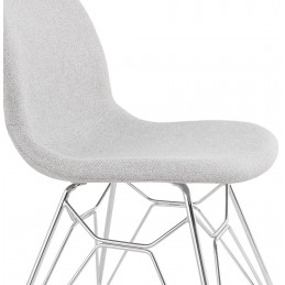 Chaise design PIKA Gris Clair