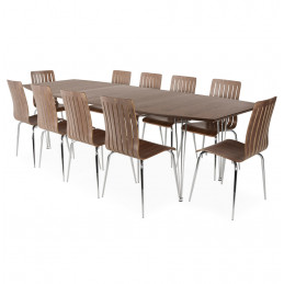 EXTENSIO table a diner design Couleur Noyer