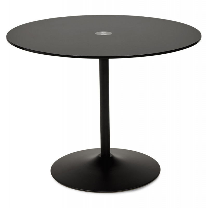 Table diner design BLOMA Noir