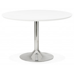 Table diner design BLETA 120 Blanc