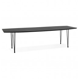 Table diner design Noir STRIK
