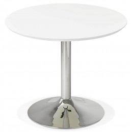 Table diner design BLETA 90 Blanc