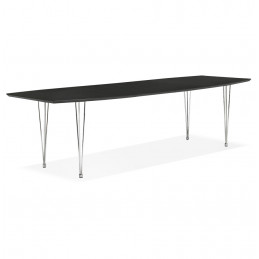 Table diner design Noir EXTENSIO