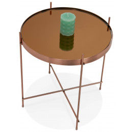 Table basse design ESPEJO Mini Cuivre
