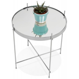 Table Basse Design  Espejo Mini Chrome