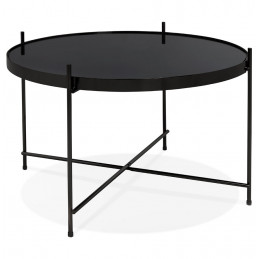 ESPEJO MEDIUM Table basse design Noir