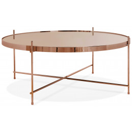Table basse design Cuivre ESPEJO BIG