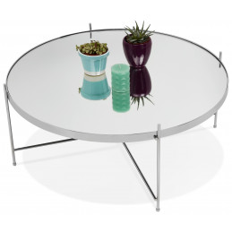 Table basse design Chrome ESPEJO BIG