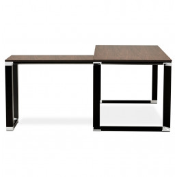 Bureau design WARNER Couleur Noyer