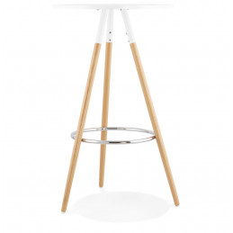 Table bar design Blanc LARRY