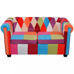Canapé Chesterfield 2 places Tissu